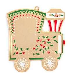 Engraved Christmas Train Tree Ornament
