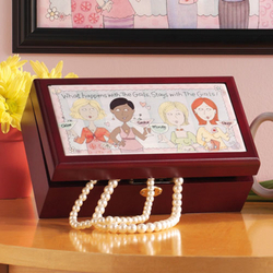 Personalized What Happens With the Girls Keepsake Box