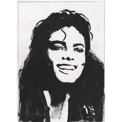 Michael Jackson Ink Rendering Fine Art Print