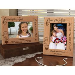 Personalized One of the Girls Jr. Bridesmaid Wooden Picture Frame