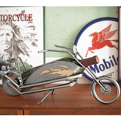 Born for the Road Metal Wine Bottle Holder