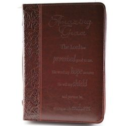 Faux Leather Medium Amazing Grace Bible Cover
