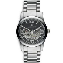 Black Dial Skeleton Wrist Watch