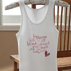 Personalized Love Life Breast Cancer Awareness Tank Top