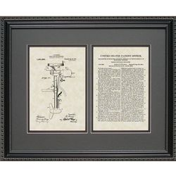 Outboard Motor 16x20 Framed Patent Art Print