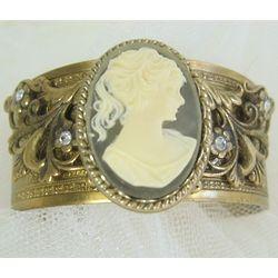 Victorian Cameo Cuff Bracelet