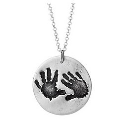 Custom Baby Handprint Necklace