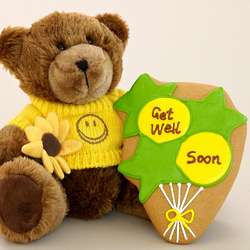 Get Well Bear with Cookie