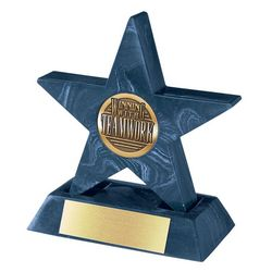 Personalized Navy Mini Star with Base Award
