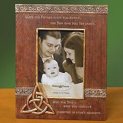 Wrapped in Love's Embrace Blessing Trinity Knot Frame