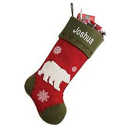 Personalized Rustic Bear Stocking