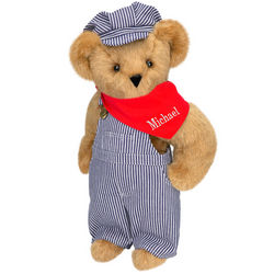 "15"" Train Engineer Teddy Bear"
