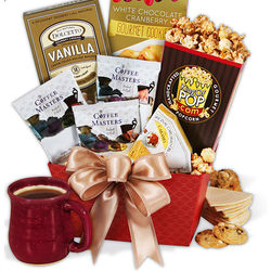 Coffee and Sweets Gourmet Gift Basket