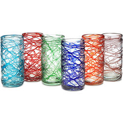 Colored Spider Web Tumblers