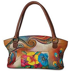 Garden Sunrise Designer Hand-Painted Handbag
