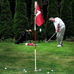 Golf Flagstick Pole & Cup Chipping Practice Set
