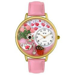 Tea Roses Watch with Handmade Miniatures