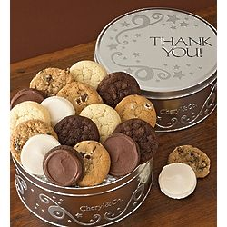 12 Assorted Mini Cookies in Personalized Silver Star Tin