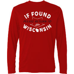 If Found Please Return to Wisconsin T-Shirt