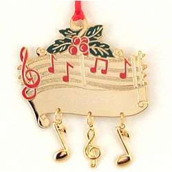 Personalized Enamel Painted Musical Score Ornament