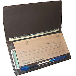Deluxe Nappa Leather Checkbook Cover