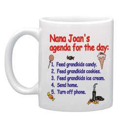 Personalized Grandma's Agenda Mug