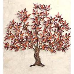 Copper Maple Tree Wall Art