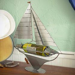 Sail Away Metal Wine Bottle Holder