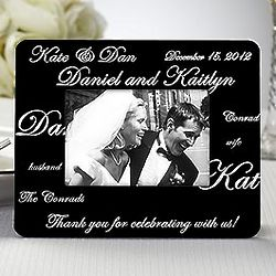 Mr & Mrs Personalized Wedding Favor Picture Frames