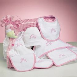 Monogrammed Baby Girl Layette Gift Set