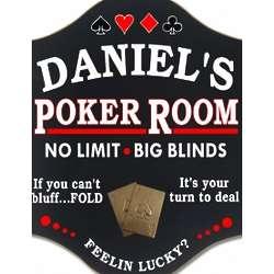 Feeling Lucky? Poker Room Custom Sign