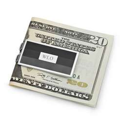 Grey Stripe Money Clip