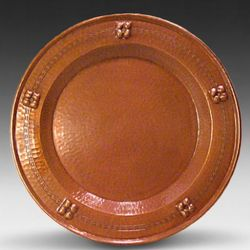 Hammered Copper Flower Plate