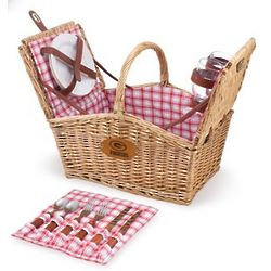 Green Bay Packers Piccadilly Willow Picnic Basket