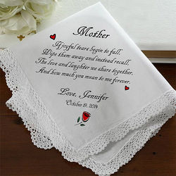 Tears of Joy Wedding Handkerchief