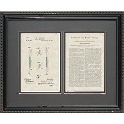 Dental Currette 16x20 Framed Patent Art