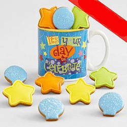It's Your Day Mug with Mini Cookies