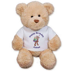 Birthday Teddy Bear with Personalized T-Shirt