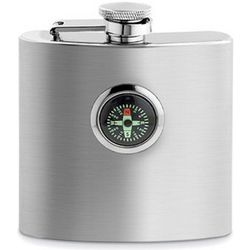 Stainless Steel Compass Flask