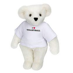 "15"" I Heart Volleyball T-Shirt Teddy Bear"