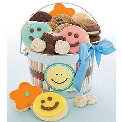 Happy Faces Cookie Treats Pail