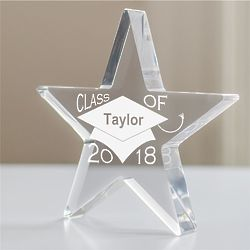 Graduation Cap Engraved Star Desk Decoration
