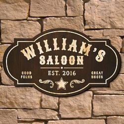 Wild West Saloon Custom Bar Sign