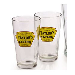 Personalized Tavern Label Glasses