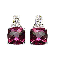 Pink Mystic Topaz Antique Filigree Earrings
