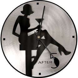 Martini Girl Clock