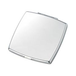 Silver Square Compact Mirror