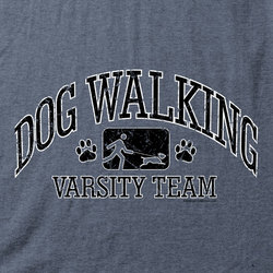 Dog Walking Varsity T-Shirt