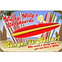 Willy's Longboards Metal Sign
