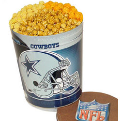 Dallas Cowboys 3 Way Popcorn Tin